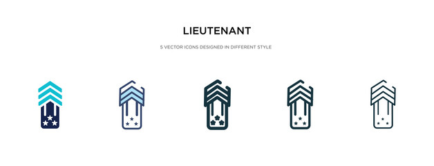lieutenant icon in different style vector illustration. two colored and black lieutenant vector icons designed in filled, outline, line and stroke style can be used for web, mobile, ui