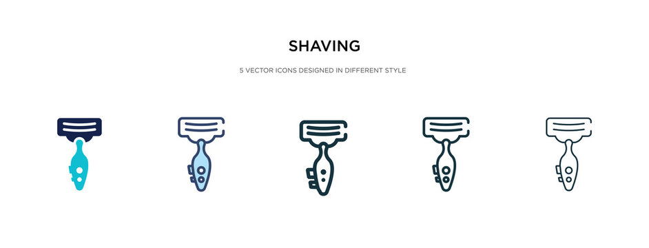 shaving icon in different style vector illustration. two colored and black shaving vector icons designed in filled, outline, line and stroke style can be used for web, mobile, ui