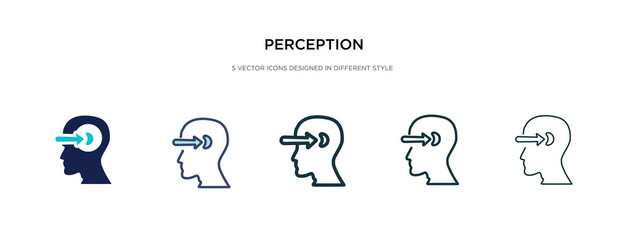 perception icon in different style vector illustration. two colored and black perception vector icons designed in filled, outline, line and stroke style can be used for web, mobile, ui