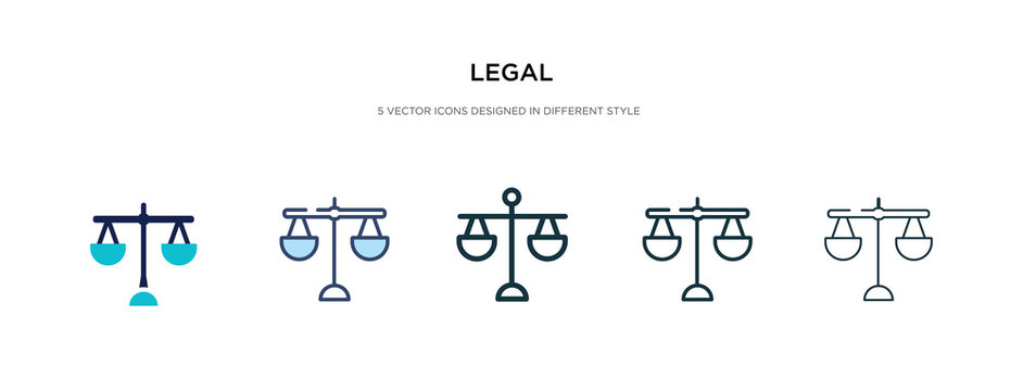 legal icon in different style vector illustration. two colored and black legal vector icons designed in filled, outline, line and stroke style can be used for web, mobile, ui