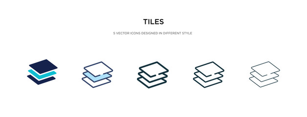 tiles icon in different style vector illustration. two colored and black tiles vector icons designed in filled, outline, line and stroke style can be used for web, mobile, ui