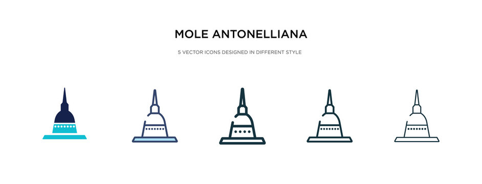 mole antonelliana in turin icon in different style vector illustration. two colored and black mole antonelliana in turin vector icons designed filled, outline, line and stroke style can be used for
