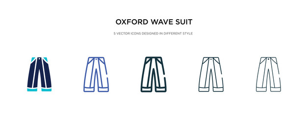 oxford wave suit pants icon in different style vector illustration. two colored and black oxford wave suit pants vector icons designed in filled, outline, line and stroke style can be used for web,