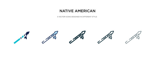 native american spear icon in different style vector illustration. two colored and black native american spear vector icons designed in filled, outline, line and stroke style can be used for web,