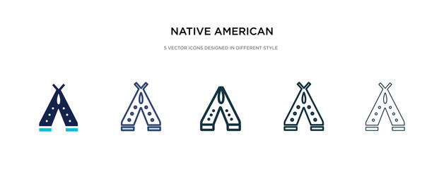native american wigwam icon in different style vector illustration. two colored and black native american wigwam vector icons designed in filled, outline, line and stroke style can be used for web,