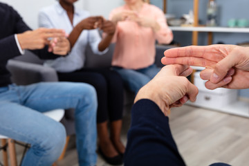 Deaf People Learning Sign Language