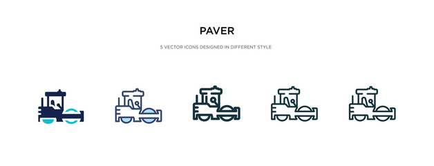 paver icon in different style vector illustration. two colored and black paver vector icons designed in filled, outline, line and stroke style can be used for web, mobile, ui
