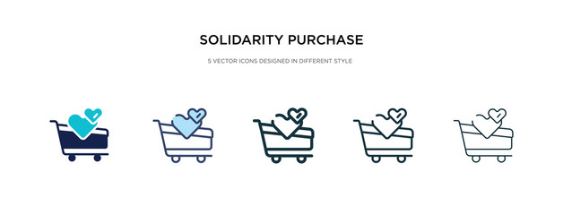 solidarity purchase icon in different style vector illustration. two colored and black solidarity purchase vector icons designed in filled, outline, line and stroke style can be used for web,