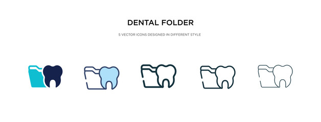 dental folder icon in different style vector illustration. two colored and black dental folder vector icons designed in filled, outline, line and stroke style can be used for web, mobile, ui