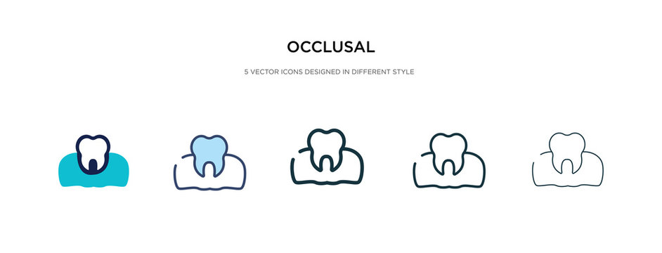 occlusal icon in different style vector illustration. two colored and black occlusal vector icons designed in filled, outline, line and stroke style can be used for web, mobile, ui