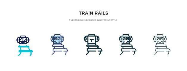 train rails icon in different style vector illustration. two colored and black train rails vector icons designed in filled, outline, line and stroke style can be used for web, mobile, ui