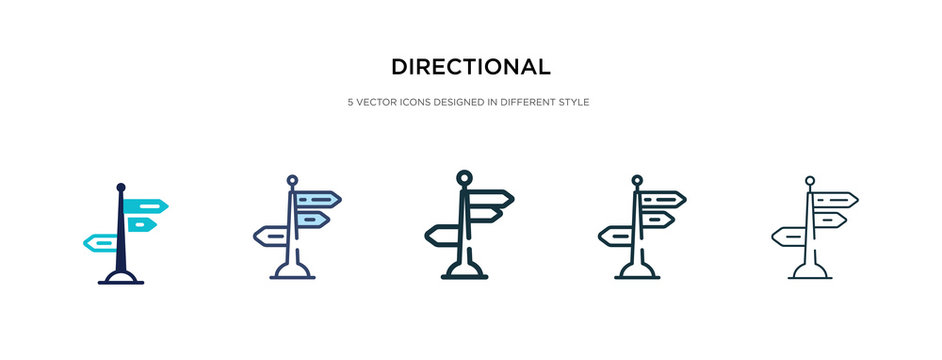 directional icon in different style vector illustration. two colored and black directional vector icons designed in filled, outline, line and stroke style can be used for web, mobile, ui