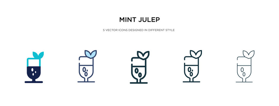 mint julep icon in different style vector illustration. two colored and black mint julep vector icons designed in filled, outline, line and stroke style can be used for web, mobile, ui
