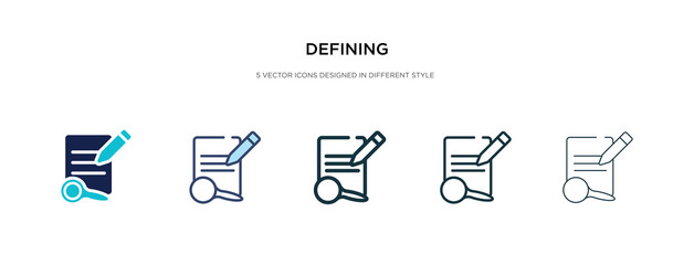 defining icon in different style vector illustration. two colored and black defining vector icons designed in filled, outline, line and stroke style can be used for web, mobile, ui