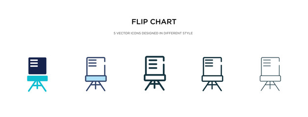 flip chart icon in different style vector illustration. two colored and black flip chart vector icons designed in filled, outline, line and stroke style can be used for web, mobile, ui