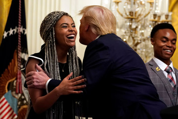 President Donald Trump attends Young Black Leadership Summit