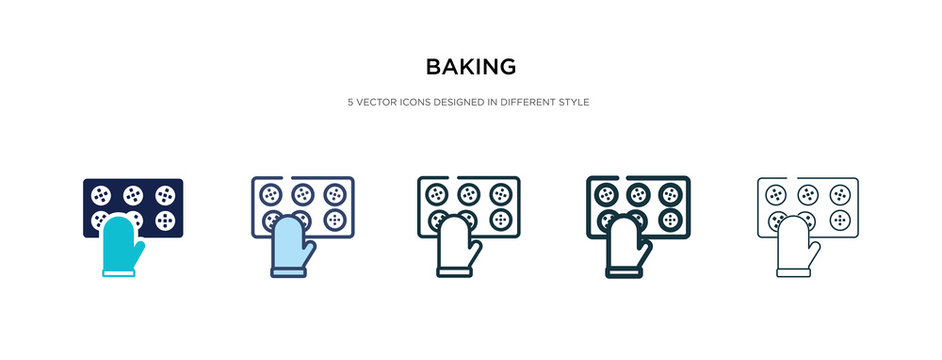 baking icon in different style vector illustration. two colored and black baking vector icons designed in filled, outline, line and stroke style can be used for web, mobile, ui