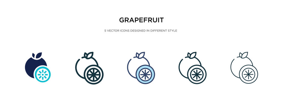 grapefruit icon in different style vector illustration. two colored and black grapefruit vector icons designed in filled, outline, line and stroke style can be used for web, mobile, ui
