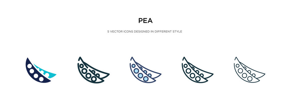 pea icon in different style vector illustration. two colored and black pea vector icons designed in filled, outline, line and stroke style can be used for web, mobile, ui