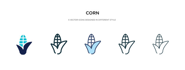 corn icon in different style vector illustration. two colored and black corn vector icons designed in filled, outline, line and stroke style can be used for web, mobile, ui Fototapete