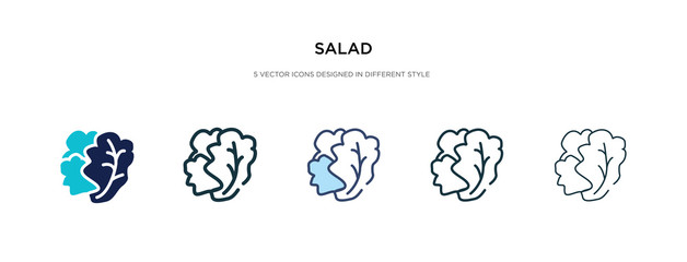 salad icon in different style vector illustration. two colored and black salad vector icons designed in filled, outline, line and stroke style can be used for web, mobile, ui