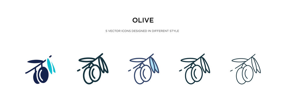 olive icon in different style vector illustration. two colored and black olive vector icons designed in filled, outline, line and stroke style can be used for web, mobile, ui