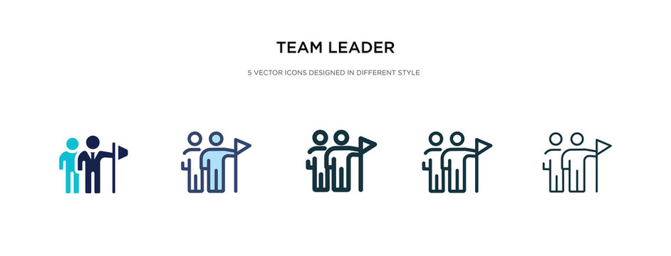 team leader icon in different style vector illustration. two colored and black team leader vector icons designed in filled, outline, line and stroke style can be used for web, mobile, ui