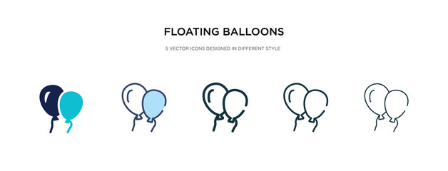 floating balloons icon in different style vector illustration. two colored and black floating balloons vector icons designed in filled, outline, line and stroke style can be used for web, mobile, ui
