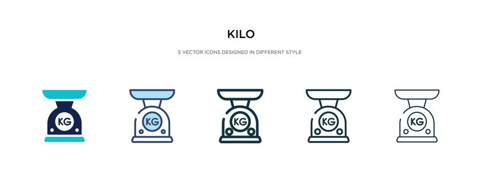kilo icon in different style vector illustration. two colored and black kilo vector icons designed in filled, outline, line and stroke style can be used for web, mobile, ui
