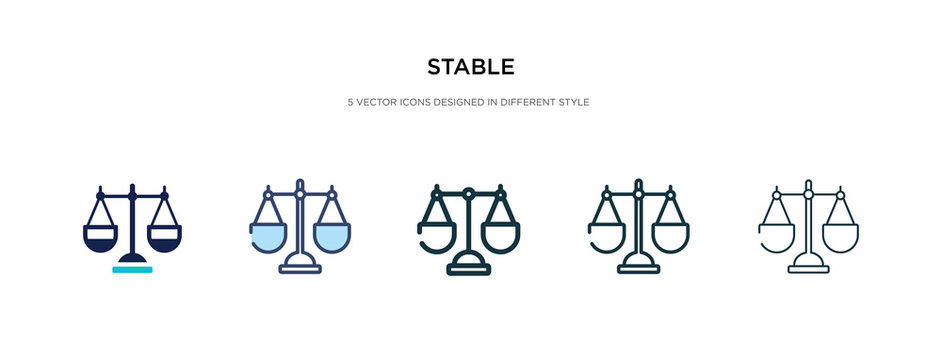 stable icon in different style vector illustration. two colored and black stable vector icons designed in filled, outline, line and stroke style can be used for web, mobile, ui