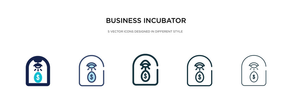 business incubator icon in different style vector illustration. two colored and black business incubator vector icons designed in filled, outline, line and stroke style can be used for web, mobile,