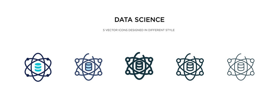 data science icon in different style vector illustration. two colored and black data science vector icons designed in filled, outline, line and stroke style can be used for web, mobile, ui