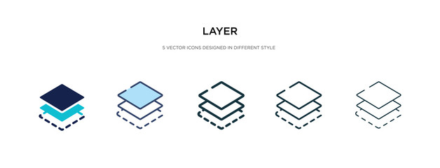 Obraz layer icon in different style vector illustration. two colored and black layer vector icons designed in filled, outline, line and stroke style can be used for web, mobile, ui - fototapety do salonu