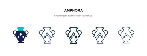 Fototapeta amphora icon in different style vector illustration. two colored and black amphora vector icons designed in filled, outline, line and stroke style can be used for web, mobile, ui obraz