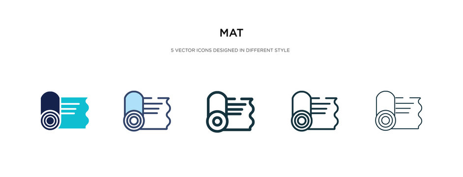 mat icon in different style vector illustration. two colored and black mat vector icons designed in filled, outline, line and stroke style can be used for web, mobile, ui