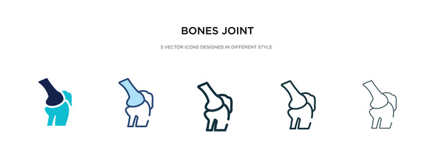bones joint icon in different style vector illustration. two colored and black bones joint vector icons designed in filled, outline, line and stroke style can be used for web, mobile, ui