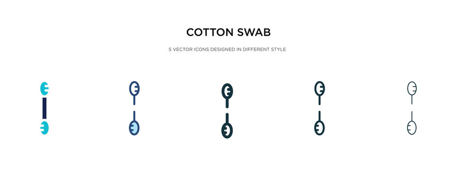 cotton swab icon in different style vector illustration. two colored and black cotton swab vector icons designed in filled, outline, line and stroke style can be used for web, mobile, ui