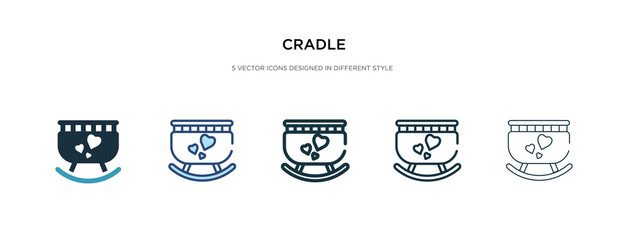cradle icon in different style vector illustration. two colored and black cradle vector icons designed in filled, outline, line and stroke style can be used for web, mobile, ui