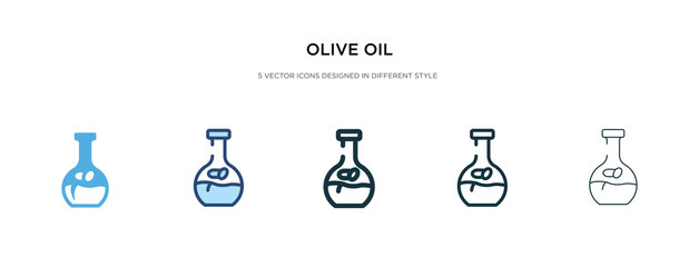 olive oil icon in different style vector illustration. two colored and black olive oil vector icons designed in filled, outline, line and stroke style can be used for web, mobile, ui