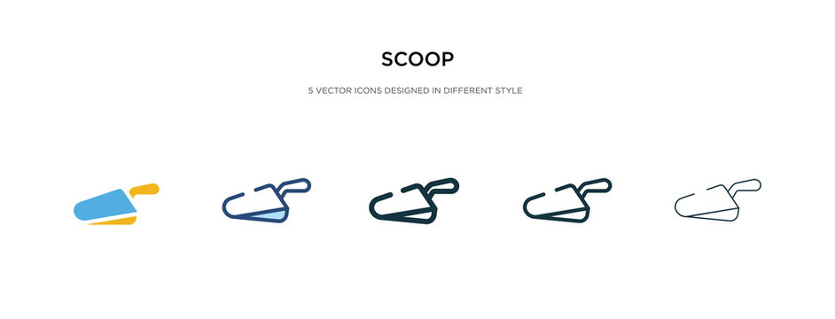 scoop icon in different style vector illustration. two colored and black scoop vector icons designed in filled, outline, line and stroke style can be used for web, mobile, ui