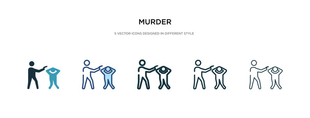 murder icon in different style vector illustration. two colored and black murder vector icons designed in filled, outline, line and stroke style can be used for web, mobile, ui