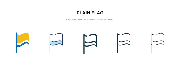 plain flag icon in different style vector illustration. two colored and black plain flag vector icons designed in filled, outline, line and stroke style can be used for web, mobile, ui
