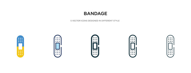 bandage icon in different style vector illustration. two colored and black bandage vector icons designed in filled, outline, line and stroke style can be used for web, mobile, ui