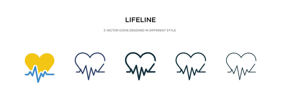 lifeline icon in different style vector illustration. two colored and black lifeline vector icons designed in filled, outline, line and stroke style can be used for web, mobile, ui