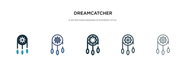 dreamcatcher icon in different style vector illustration. two colored and black dreamcatcher vector icons designed in filled, outline, line and stroke style can be used for web, mobile, ui
