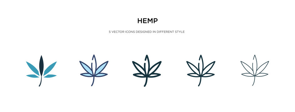 hemp icon in different style vector illustration. two colored and black hemp vector icons designed in filled, outline, line and stroke style can be used for web, mobile, ui