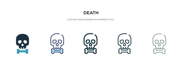 death icon in different style vector illustration. two colored and black death vector icons designed in filled, outline, line and stroke style can be used for web, mobile, ui