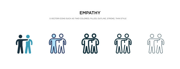 empathy icon in different style vector illustration. two colored and black empathy vector icons designed in filled, outline, line and stroke style can be used for web, mobile, ui