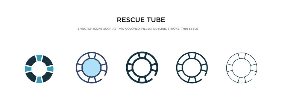 rescue tube icon in different style vector illustration. two colored and black rescue tube vector icons designed in filled, outline, line and stroke style can be used for web, mobile, ui