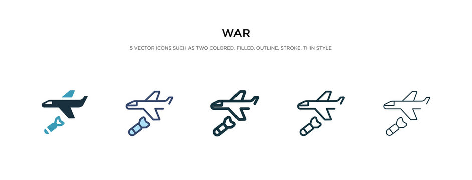 war icon in different style vector illustration. two colored and black war vector icons designed in filled, outline, line and stroke style can be used for web, mobile, ui